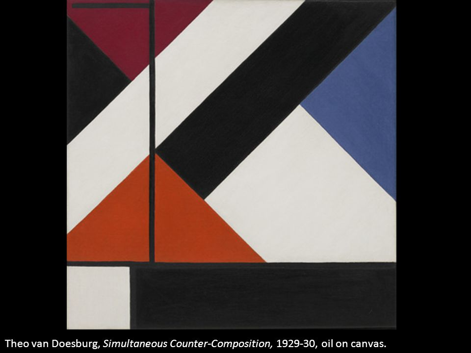 Theo van Doesburg, Simultaneous Counter-Composition, 1929-30, oil on canvas.