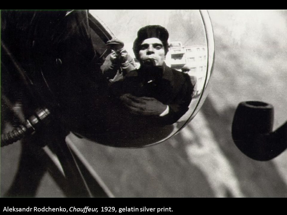 Aleksandr Rodchenko, Chauffeur, 1929, gelatin silver print.