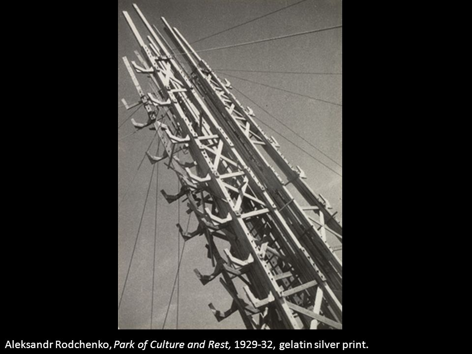 Aleksandr Rodchenko, Park of Culture and Rest, 1929-32, gelatin silver print.