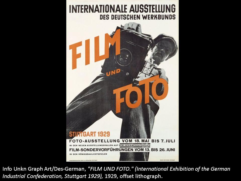 Info Unkn Graph Art/Des-German, FILM UND FOTO