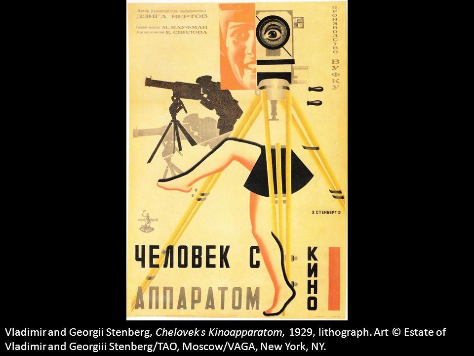 Vladimir and Georgii Stenberg, Chelovek s Kinoapparatom, 1929, lithograph.