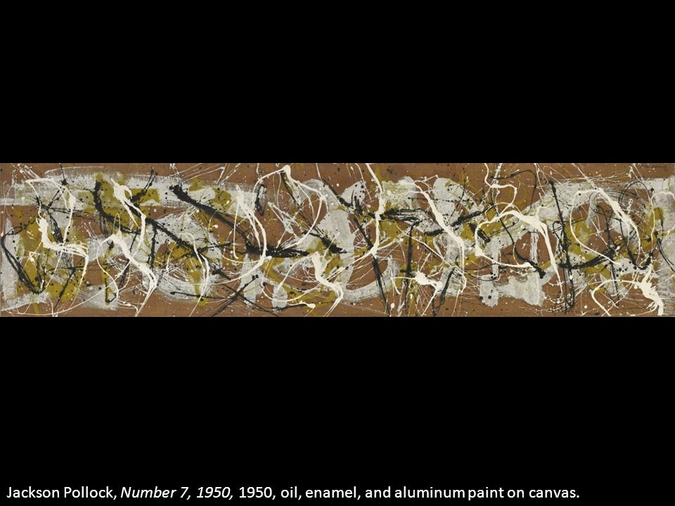 Jackson Pollock, Number 7, 1950, 1950, oil, enamel, and aluminum paint on canvas.