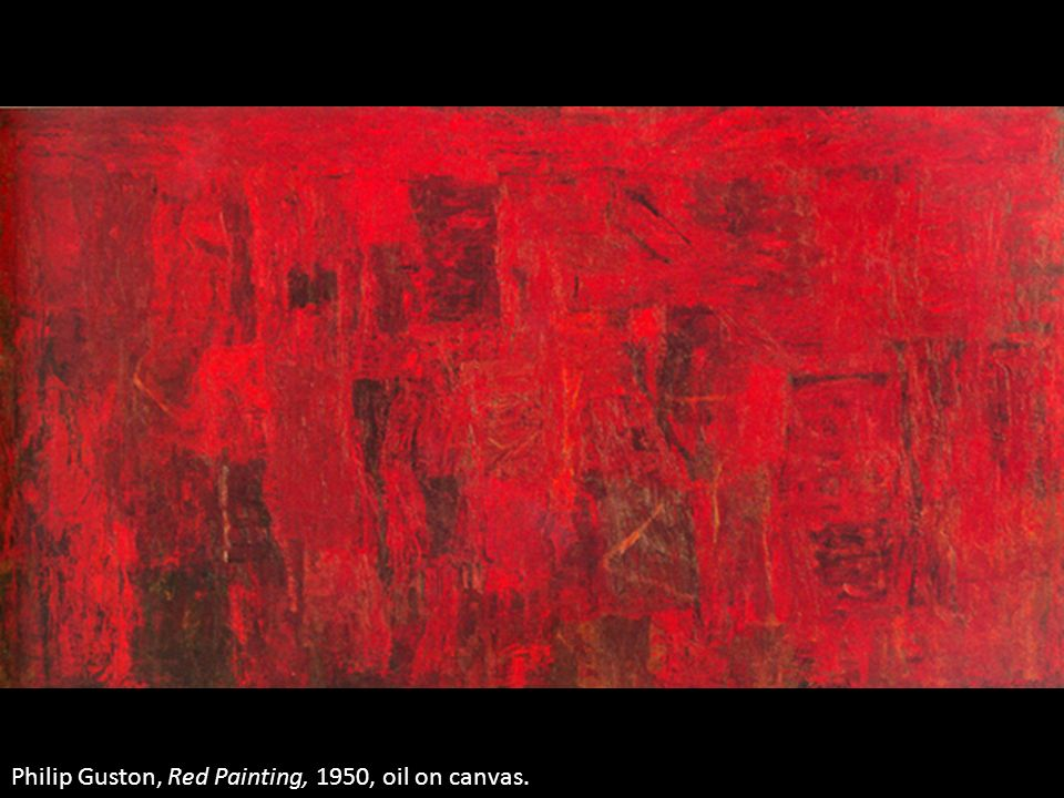Philip Guston, Red Painting, 1950, oil on canvas.