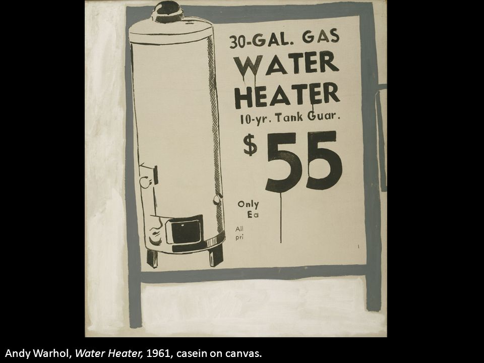 Andy Warhol, Water Heater, 1961, casein on canvas.