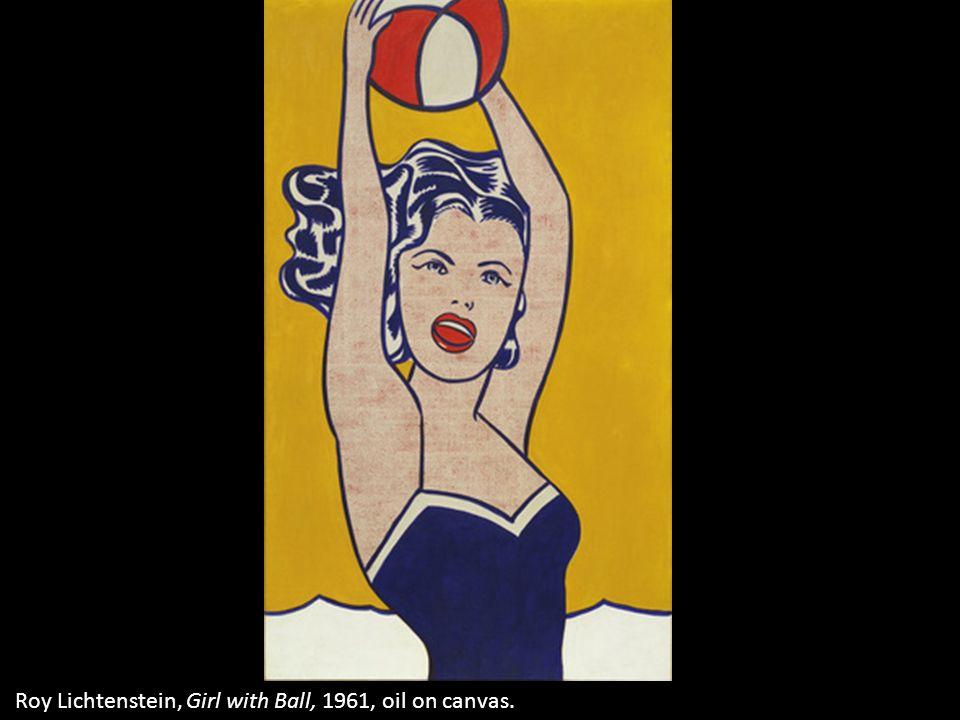 Roy Lichtenstein, Girl with Ball, 1961, oil on canvas.