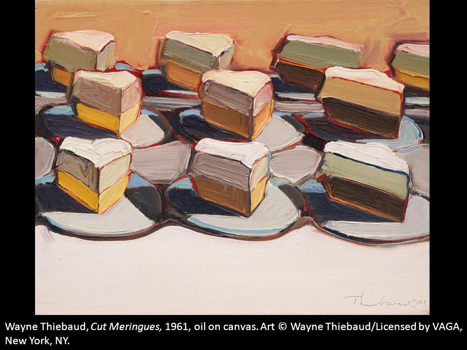 Wayne Thiebaud, Cut Meringues, 1961, oil on canvas
