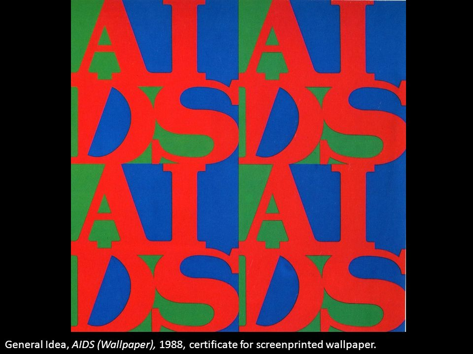 General Idea, AIDS (Wallpaper), 1988, certificate for screenprinted wallpaper.