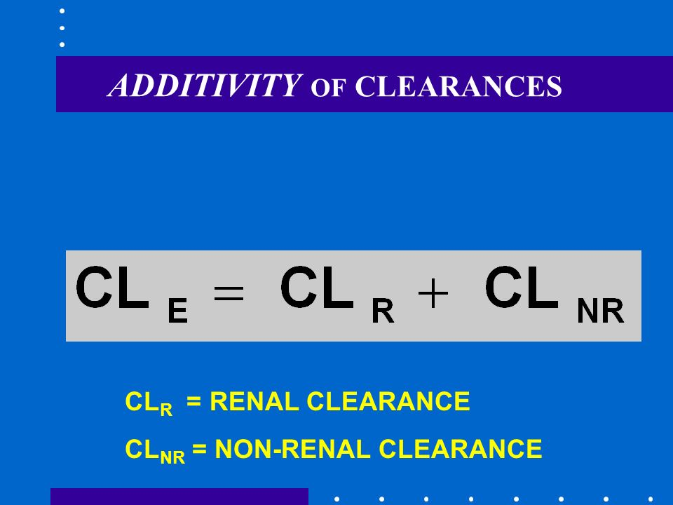 ADDITIVITY OF CLEARANCES