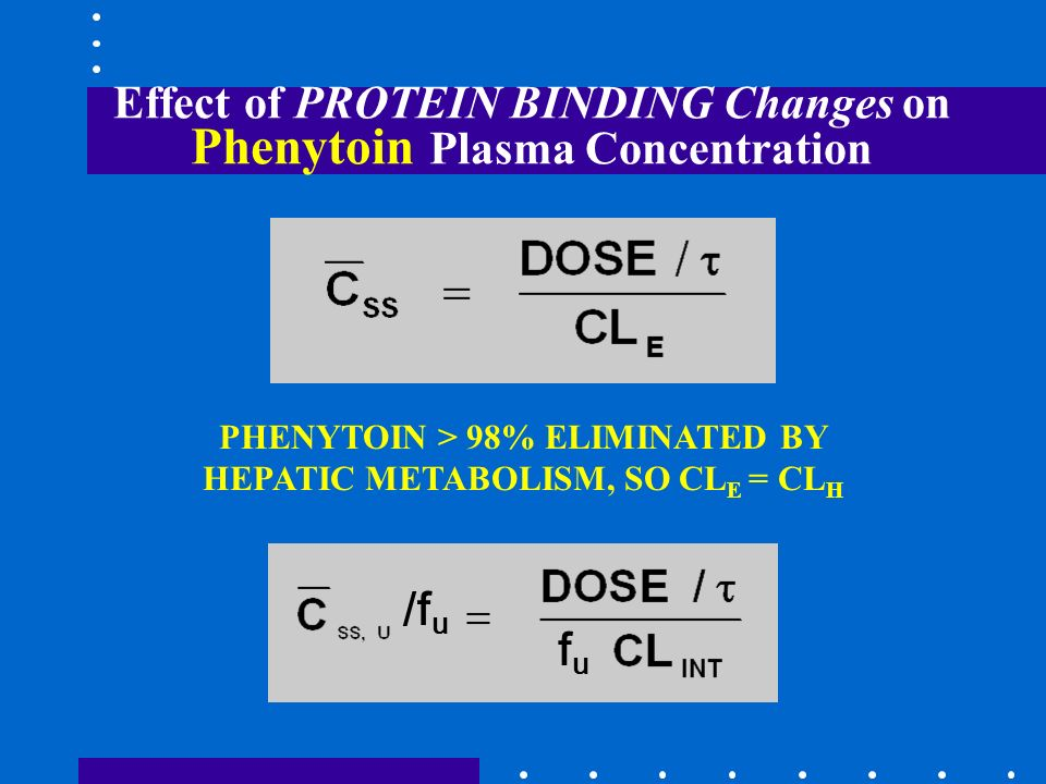 Effect of PROTEIN BINDING Changes on Phenytoin Plasma Concentration
