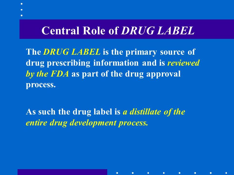 Central Role of DRUG LABEL