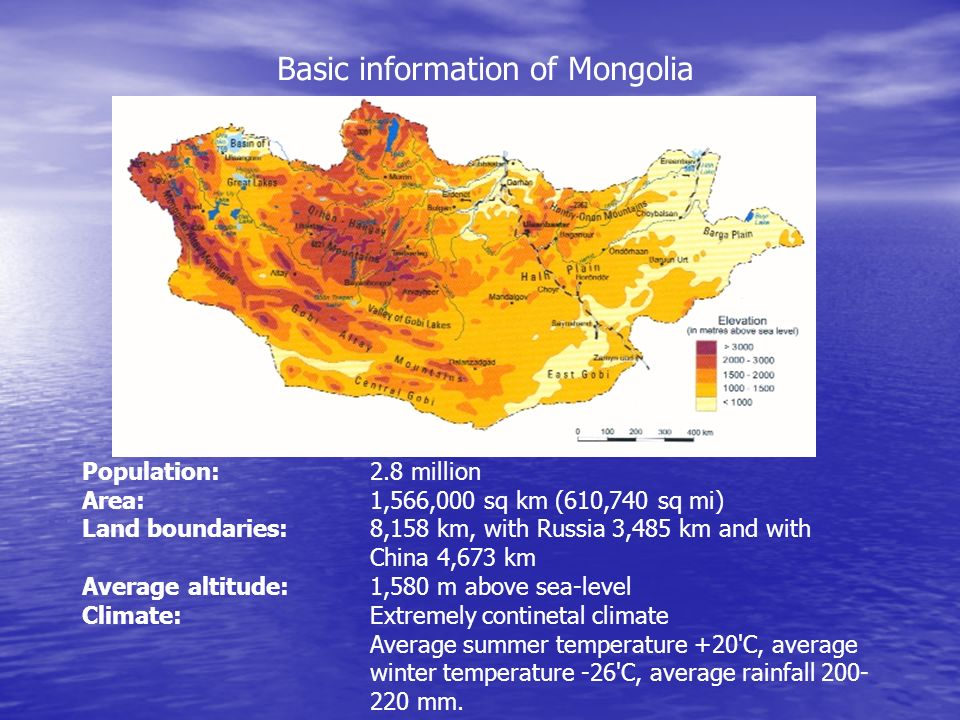 Basic information of Mongolia