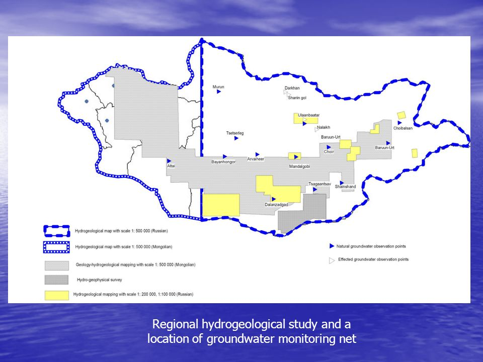 Regional hydrogeological study and a