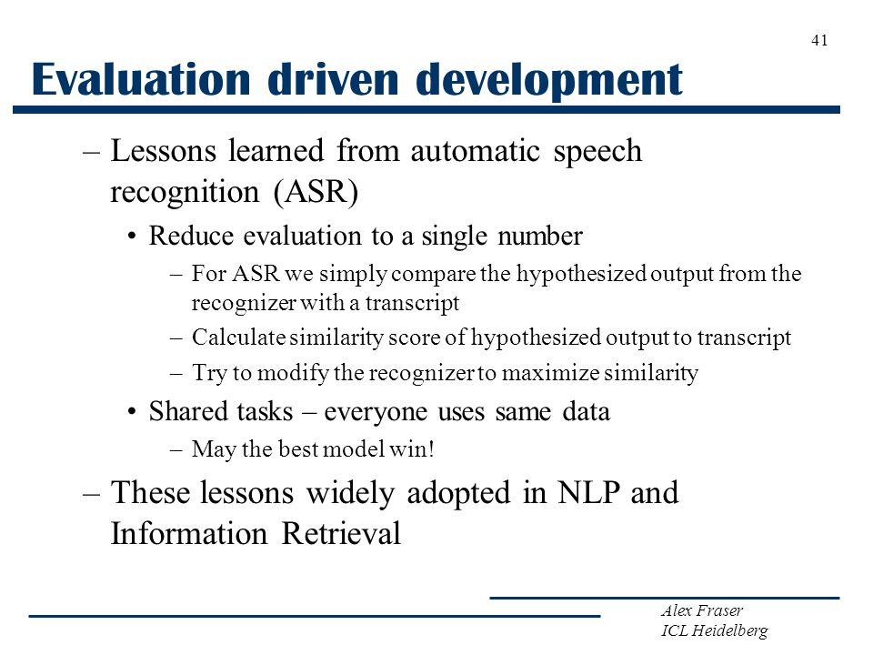 Evaluation driven development