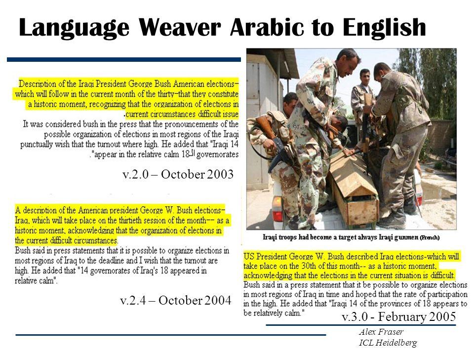 Language Weaver Arabic to English