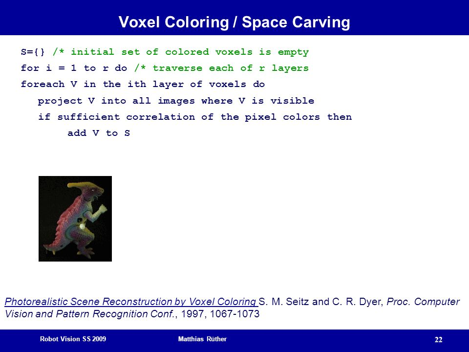Voxel Coloring / Space Carving