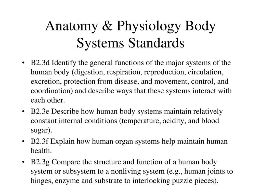 Großartig Anatomy And Physiology Standards Galerie - Physiologie Von ...