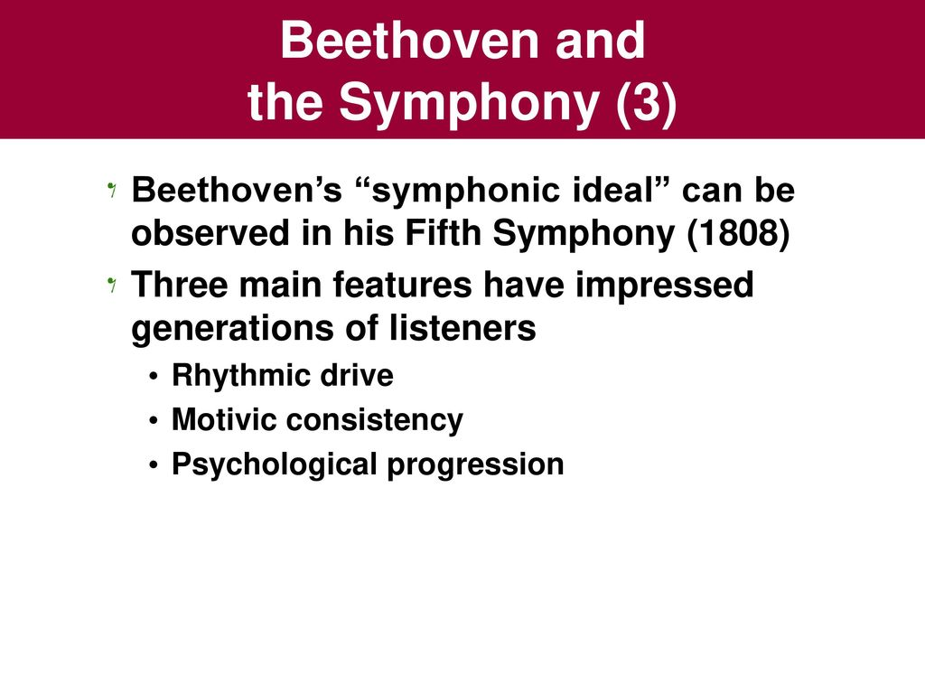Beethoven and the Symphony - ppt download