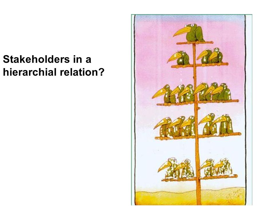 Stakeholders in a hierarchial relation