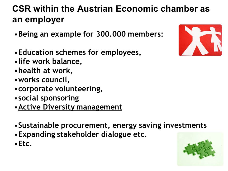 CSR within the Austrian Economic chamber as an employer