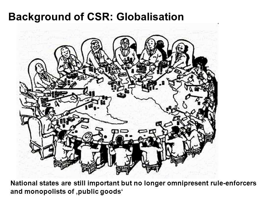 Background of CSR: Globalisation