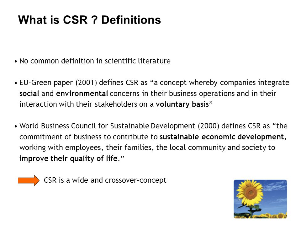 What is CSR Definitions
