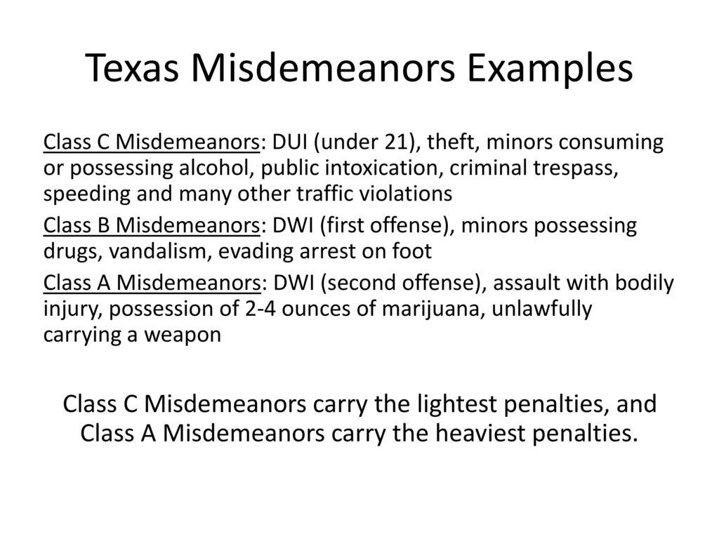 Misdemeanors Matter  - ppt download