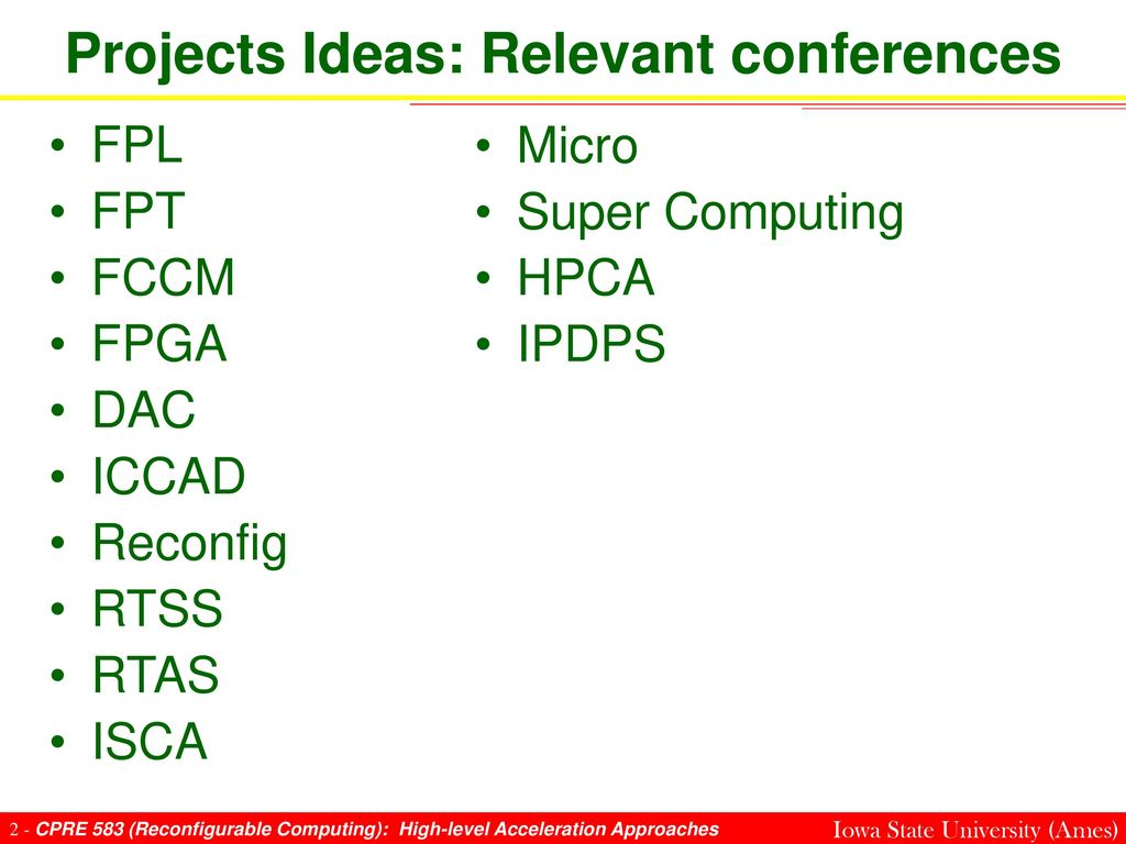 Reconfigurable Computing (High-level Acceleration Approaches) - ppt