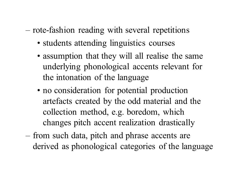 rote-fashion reading with several repetitions