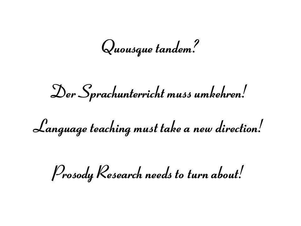 Der Sprachunterricht muss umkehren!