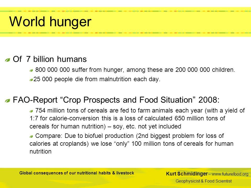 World hunger Of 7 billion humans