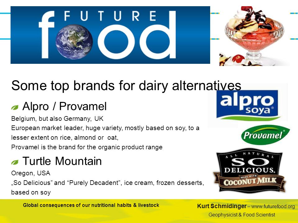 Some top brands for dairy alternatives
