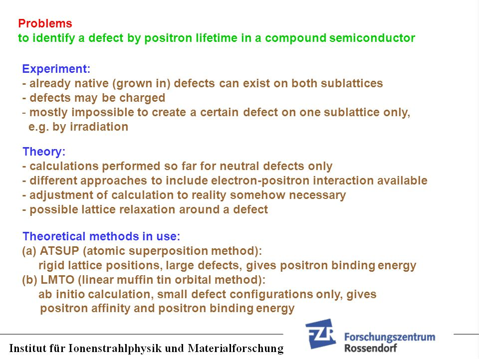 Problems to identify a defect by positron lifetime in a compound semiconductor. Experiment: