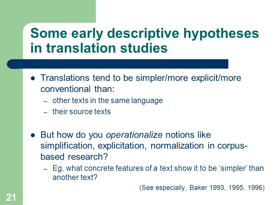 Some early descriptive hypotheses in translation studies