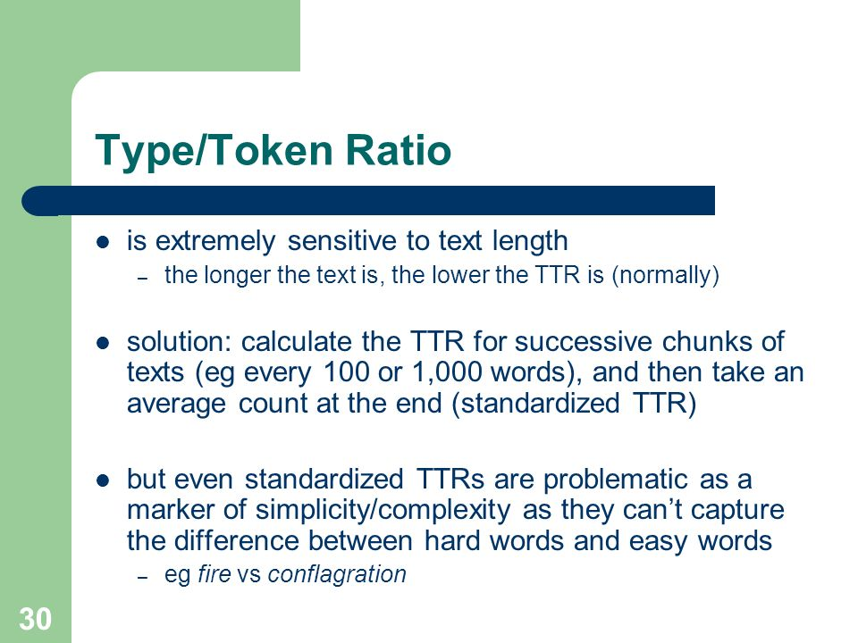 Type/Token Ratio is extremely sensitive to text length