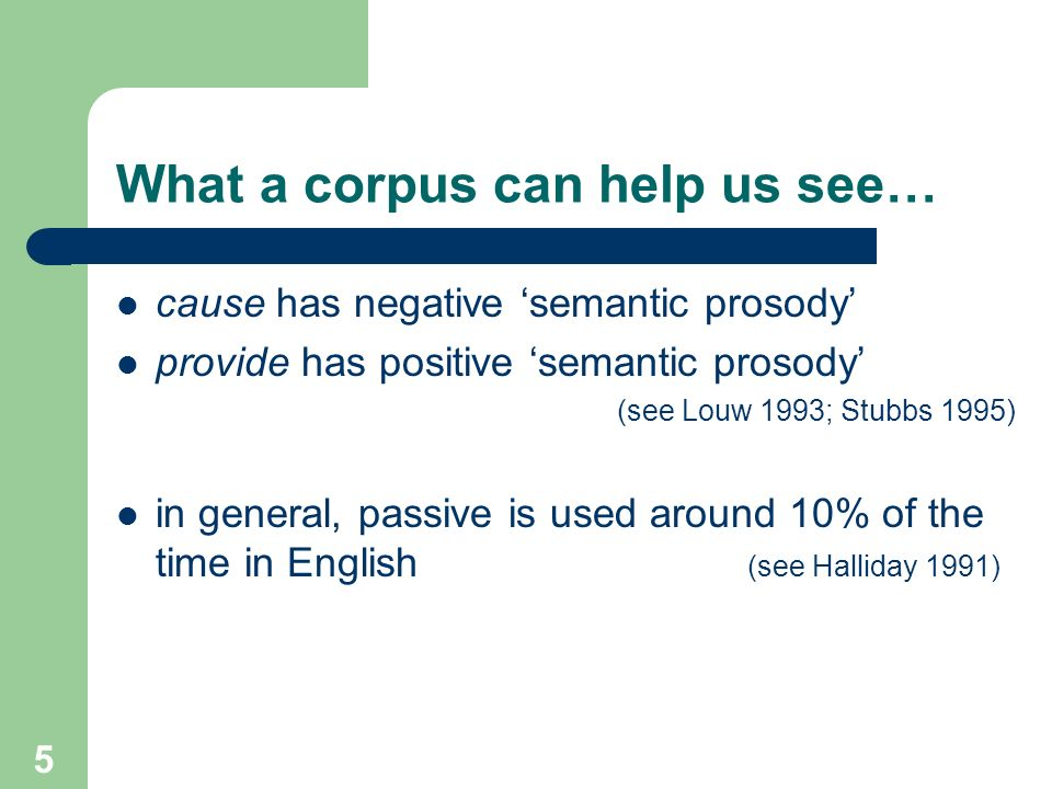 What a corpus can help us see…