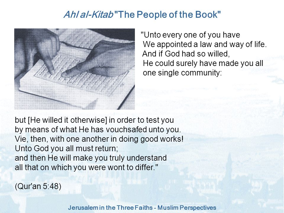 Ahl al-Kitab The People of the Book