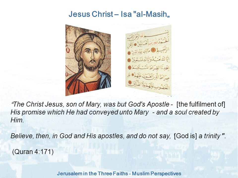 "Jesus Christ – Isa al-Masih"""
