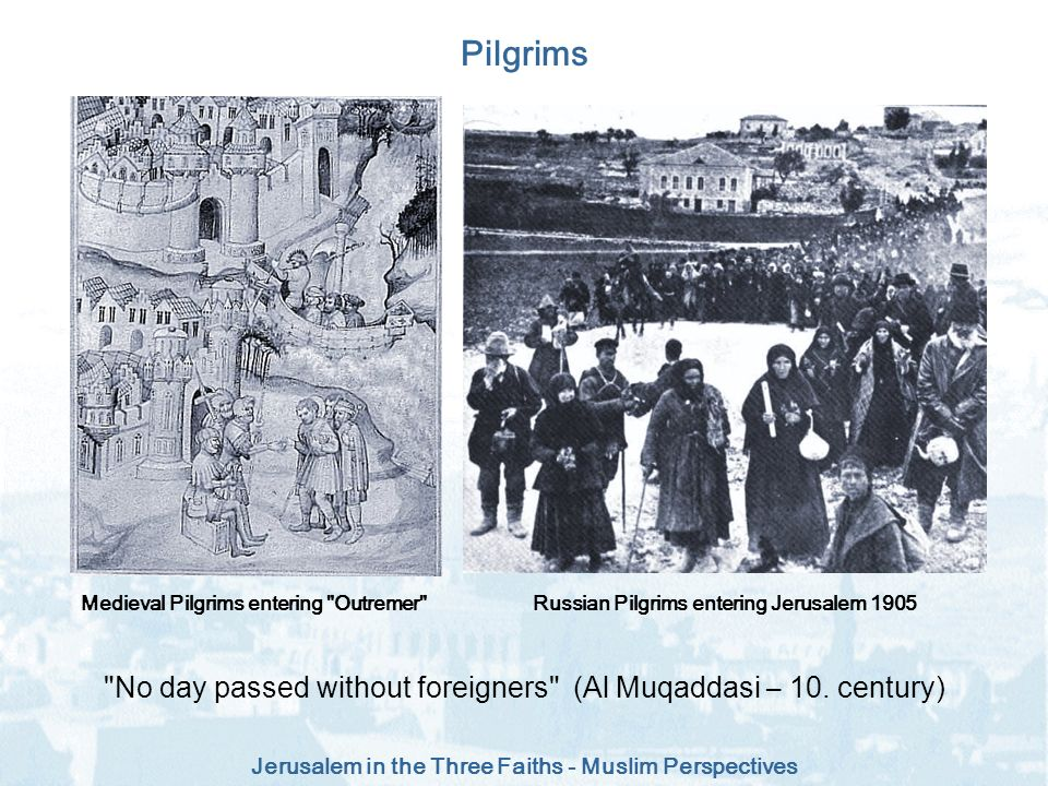 Russian Pilgrims entering Jerusalem 1905