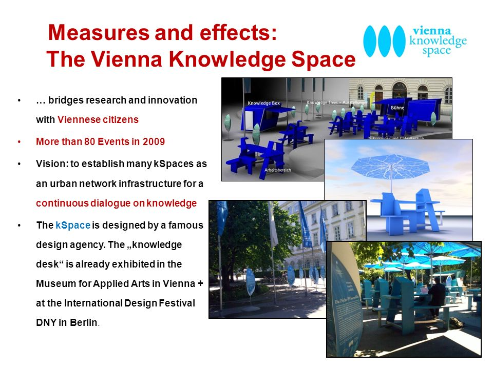 Measures and effects: The Vienna Knowledge Space