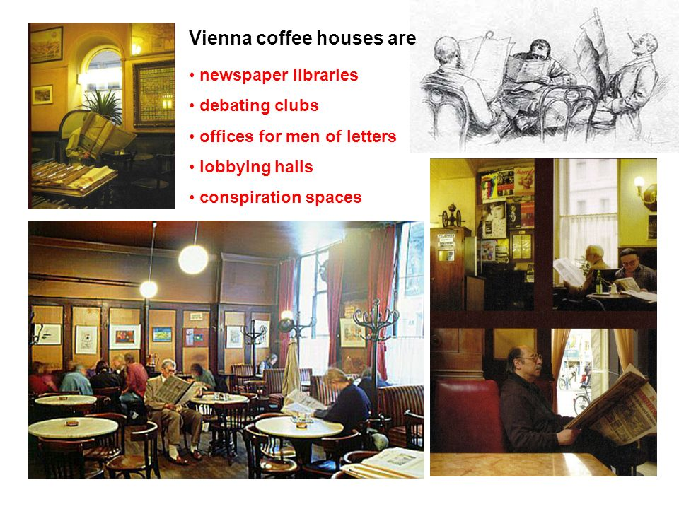 Vienna coffee houses are