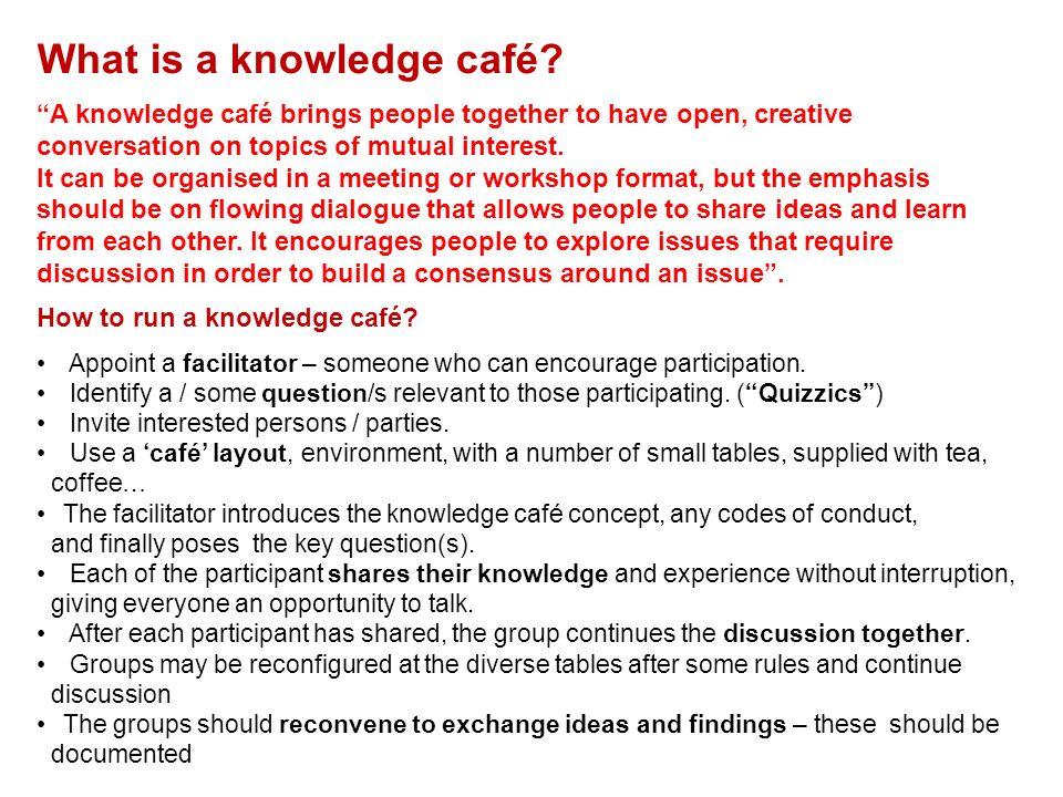 What is a knowledge café