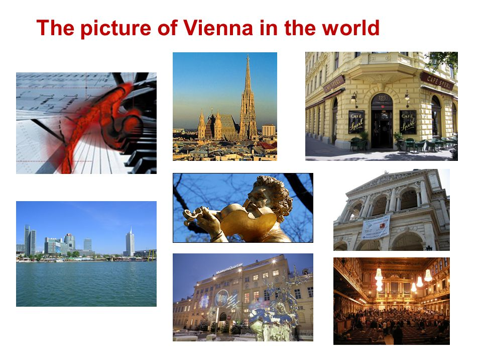 The picture of Vienna in the world