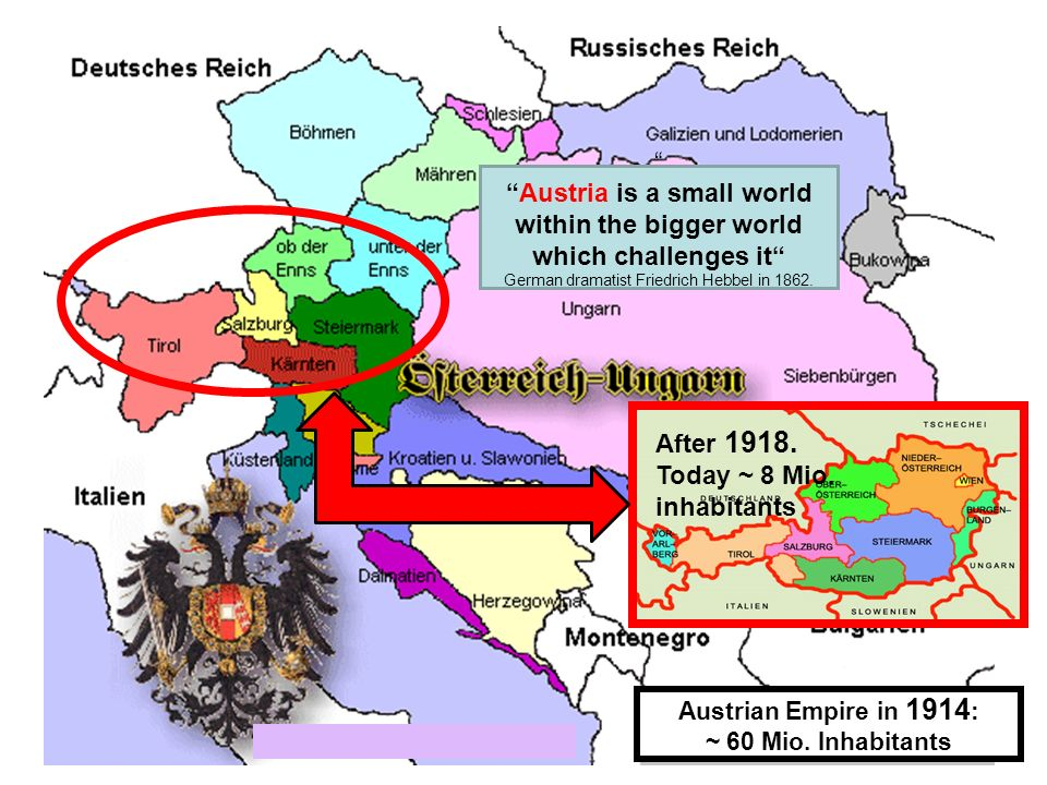 Austria is a small world within the bigger world which challenges it