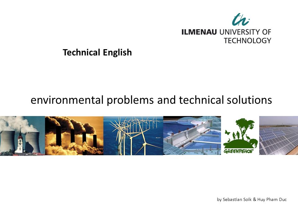 environmental problems and technical solutions