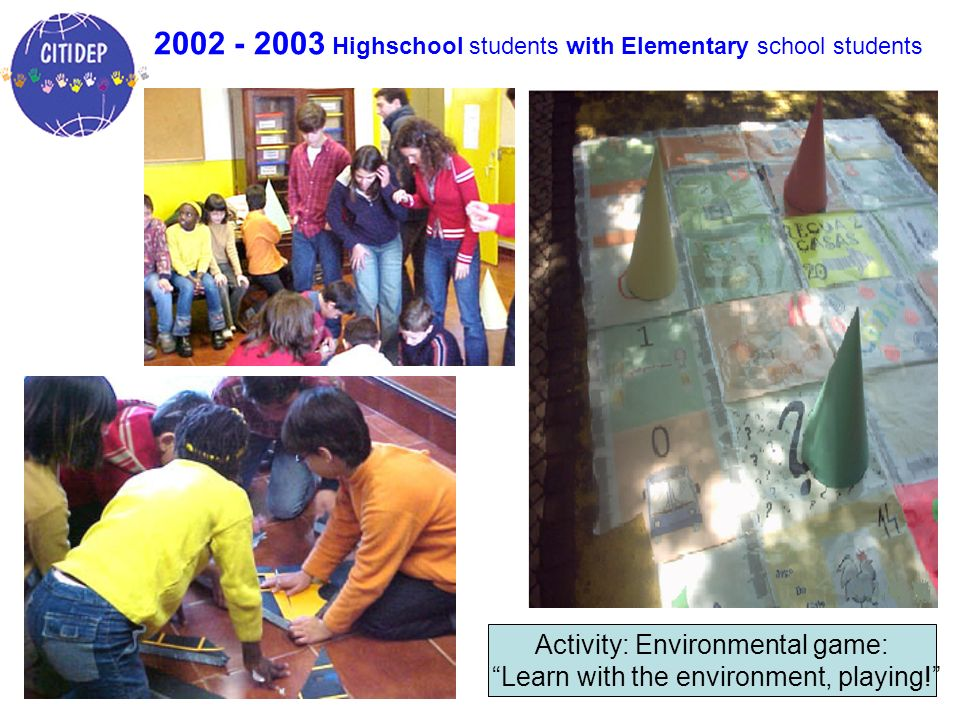 2002 - 2003 Highschool students with Elementary school students