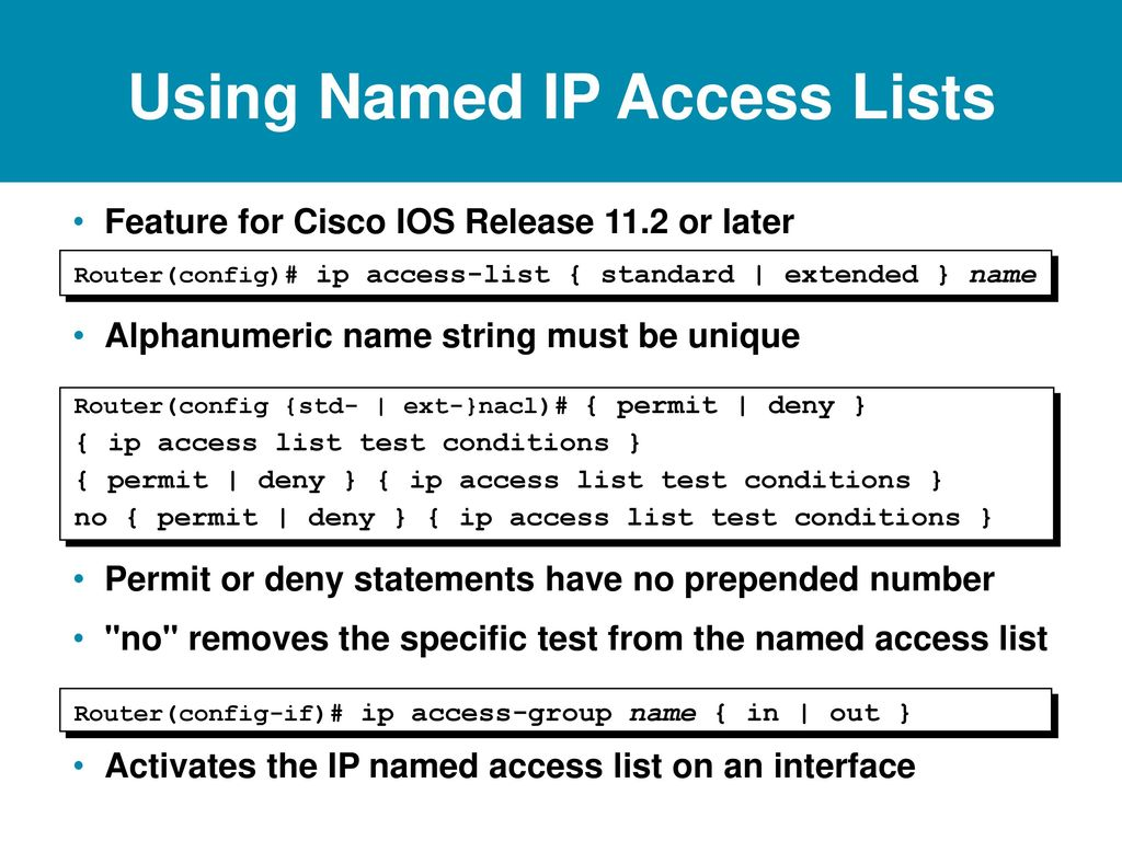 Access Control Lists  - ppt download