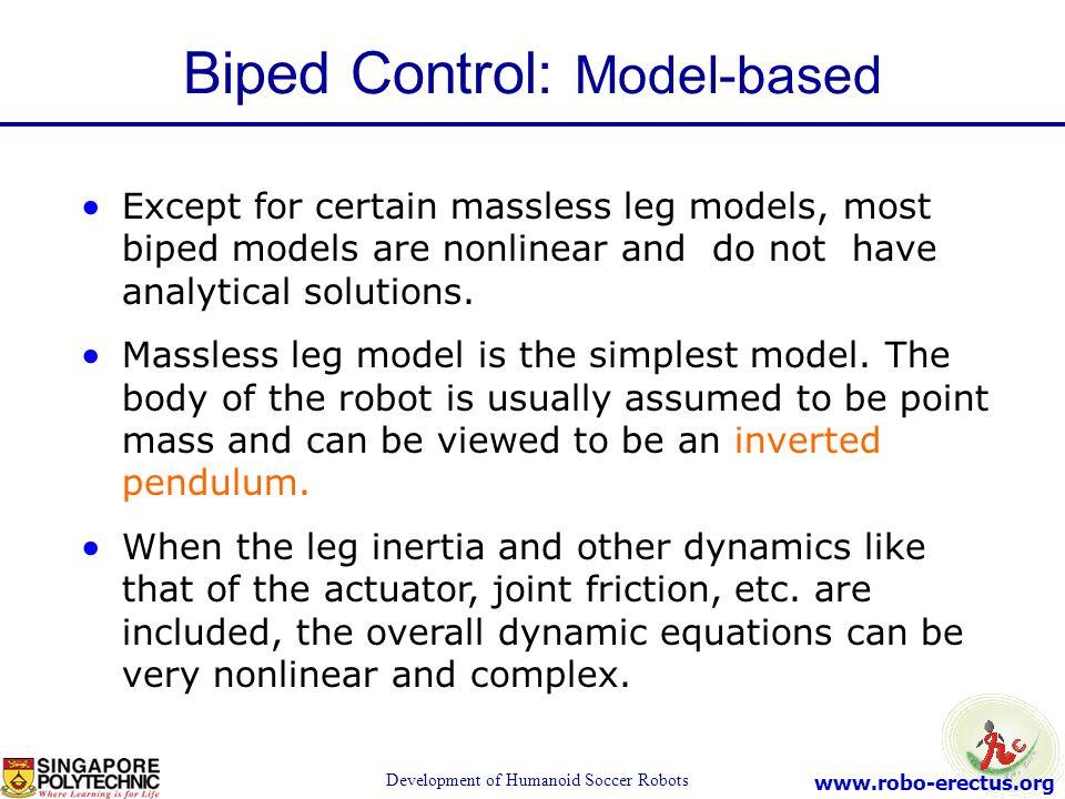 Biped Control: Model-based