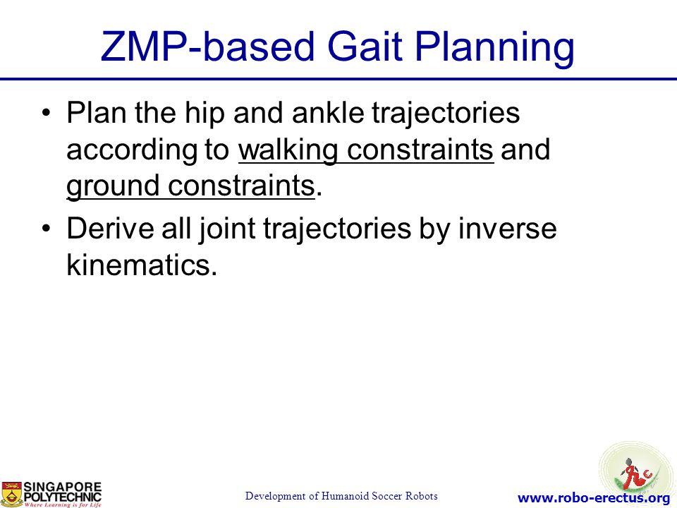 ZMP-based Gait Planning