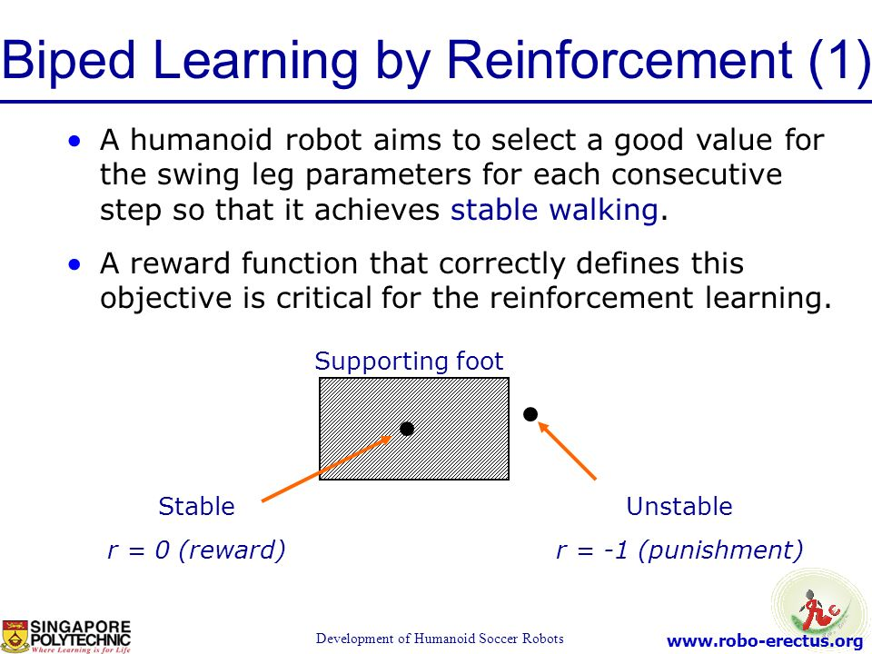 Biped Learning by Reinforcement (1)