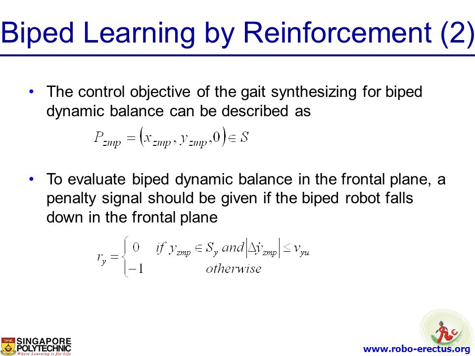 Biped Learning by Reinforcement (2)